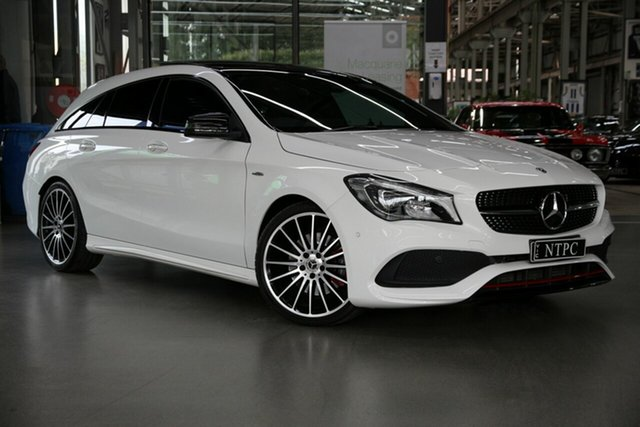 Used Mercedes-Benz CLA-Class X117 809MY CLA250 Shooting Brake DCT 4MATIC Sport North Melbourne, 2018 Mercedes-Benz CLA-Class X117 809MY CLA250 Shooting Brake DCT 4MATIC Sport White 7 Speed