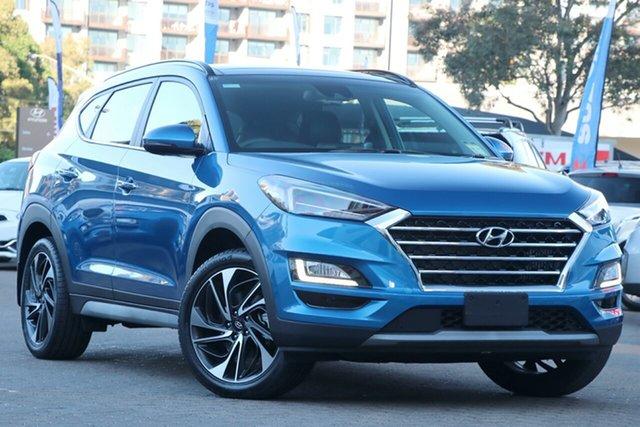 Used Hyundai Tucson TL3 MY21 Highlander (AWD) Rosebery, 2020 Hyundai Tucson TL3 MY21 Highlander (AWD) Aqua Blue 7 Speed Auto Dual Clutch Wagon