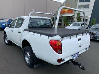 2010 Mitsubishi Triton MN MY10 GLX Double Cab 4x2 White 5 Speed Manual Utility.