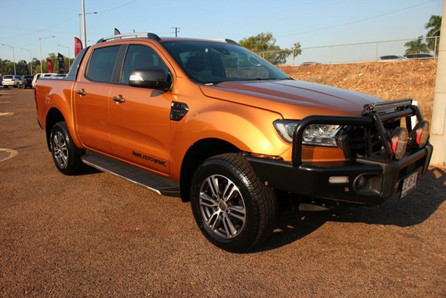 Pre-Owned Ford Ranger PX MkIII 2020.25MY Wildtrak Darwin, 2020 Ford Ranger PX MkIII 2020.25MY Wildtrak Gold 10 Speed Sports Automatic Double Cab Pick Up