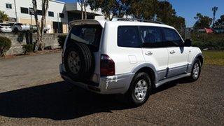 2003 Mitsubishi Pajero NP Exceed LWB (4x4) White 5 Speed Auto Sports Mode Wagon.