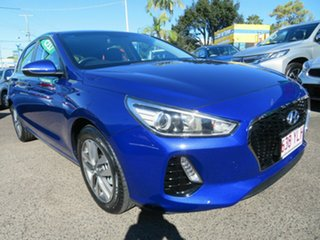 2018 Hyundai i30 PD2 MY19 Active Blue 6 Speed Sports Automatic Hatchback.
