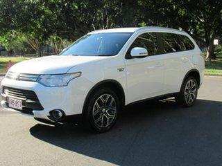 2014 Mitsubishi Outlander ZJ MY14.5 PHEV AWD Aspire White 1 Speed Automatic Wagon Hybrid.