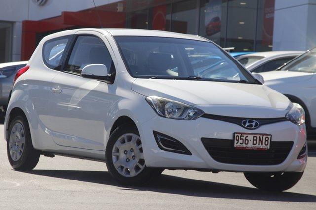 Pre-Owned Hyundai i20 PB MY14 Active Woolloongabba, 2014 Hyundai i20 PB MY14 Active White 4 Speed Automatic Hatchback
