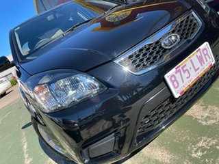 2010 Kia Rio JB MY10 S Abyss Black 4 Speed Automatic Hatchback.