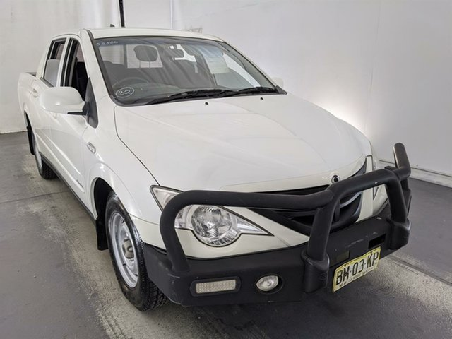 Used Ssangyong Actyon Sports 100 Series MY11 Tradie 4x2 Maryville, 2011 Ssangyong Actyon Sports 100 Series MY11 Tradie 4x2 White 5 Speed Manual Utility