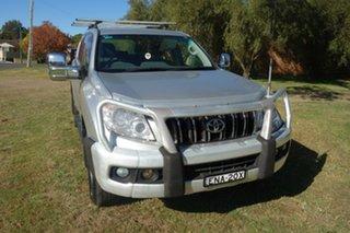 2011 Toyota Landcruiser Prado KDJ150R GXL Silver 5 Speed Sports Automatic Wagon.