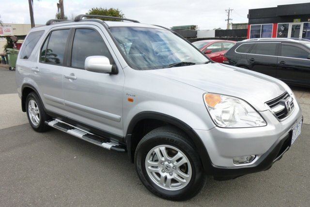 Used Honda CR-V RD MY2004 Sport 4WD Winter Classic Cheltenham, 2004 Honda CR-V RD MY2004 Sport 4WD Winter Classic Silver 4 Speed Automatic Wagon