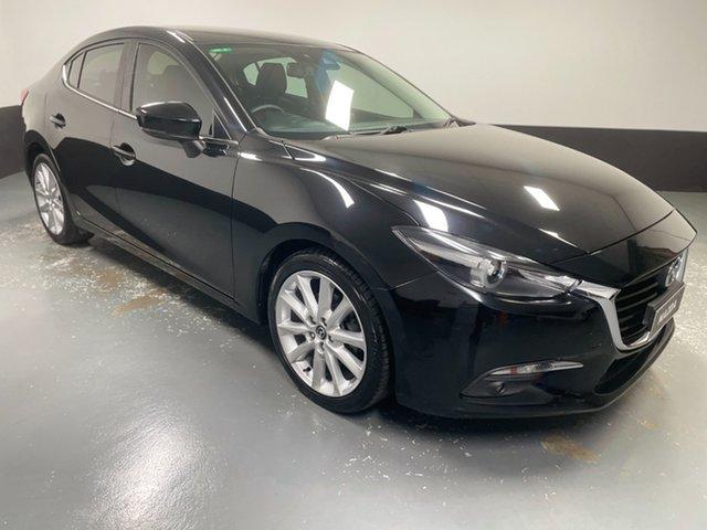 Used Mazda 3 BN5238 SP25 SKYACTIV-Drive Cardiff, 2018 Mazda 3 BN5238 SP25 SKYACTIV-Drive Black 6 Speed Sports Automatic Sedan