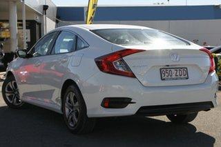2016 Honda Civic 10th Gen MY16 VTi White Orchid 1 Speed Constant Variable Sedan.