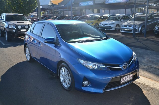 Used Toyota Corolla ZRE182R Ascent Sport Toowoomba, 2013 Toyota Corolla ZRE182R Ascent Sport Blue 7 Speed CVT Auto Sequential Hatchback