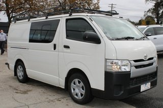2017 Toyota HiAce KDH201R Crewvan LWB White 4 Speed Automatic Van Wagon.