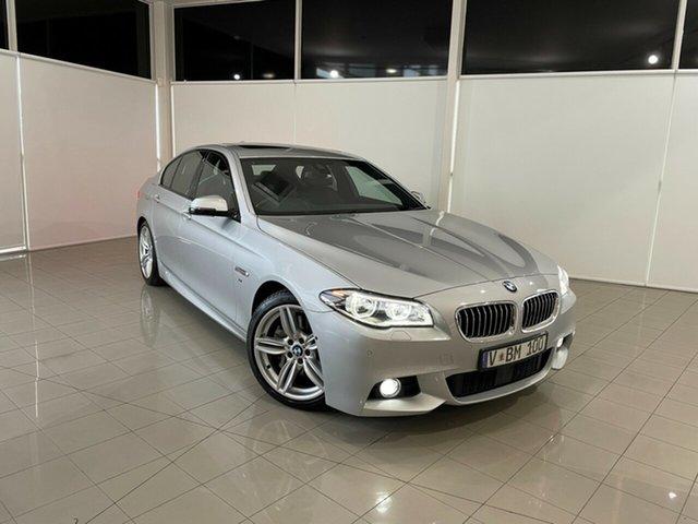 Used BMW 5 Series F10 LCI 535d Steptronic M Sport Deer Park, 2016 BMW 5 Series F10 LCI 535d Steptronic M Sport Silver, Chrome 8 Speed Sports Automatic Sedan