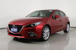 2015 Mazda 3 BM MY15 SP25 GT Red 6 Speed Manual Hatchback.
