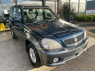 2003 Hyundai Terracan Blue 4 Speed Automatic Wagon.