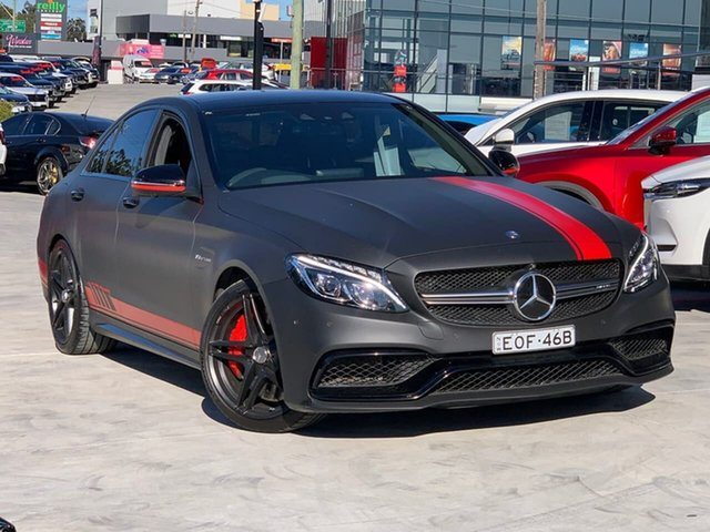 Used Mercedes-Benz C-Class W205 807MY C63 AMG SPEEDSHIFT MCT S Liverpool, 2016 Mercedes-Benz C-Class W205 807MY C63 AMG SPEEDSHIFT MCT S 7 Speed Sports Automatic Sedan