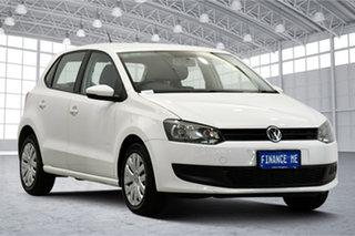 2013 Volkswagen Polo 6R MY14 Trendline Candy White 5 Speed Manual Hatchback.
