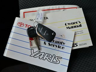 2007 Toyota Yaris NCP93R YRS Black 4 Speed Automatic Sedan