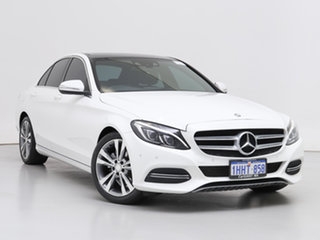 2015 Mercedes-Benz C200 205 BlueTEC White 7 Speed Automatic Sedan.