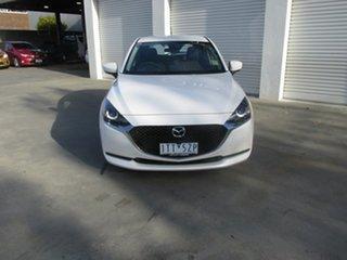 2021 Mazda 2 DJ2HAA G15 SKYACTIV-Drive Pure White 6 Speed Sports Automatic Hatchback.