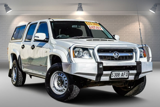 Used Holden Colorado RC MY10.5 LX Crew Cab Gepps Cross, 2010 Holden Colorado RC MY10.5 LX Crew Cab White 5 Speed Manual Utility