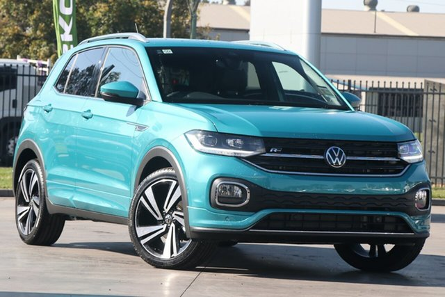 New Volkswagen T-Cross C1 MY21 85TSI DSG FWD Style Port Melbourne, 2021 Volkswagen T-Cross C1 MY21 85TSI DSG FWD Style Green 7 Speed Sports Automatic Dual Clutch Wagon