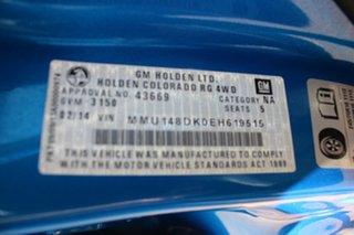 2014 Holden Colorado RG MY14 LX Crew Cab Blue 6 Speed Manual Utility