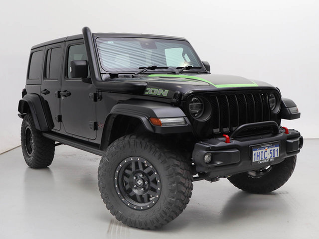 Used Jeep Wrangler Unlimited JL MY19 Rubicon (4x4), 2019 Jeep Wrangler Unlimited JL MY19 Rubicon (4x4) Black 8 Speed Automatic Hardtop