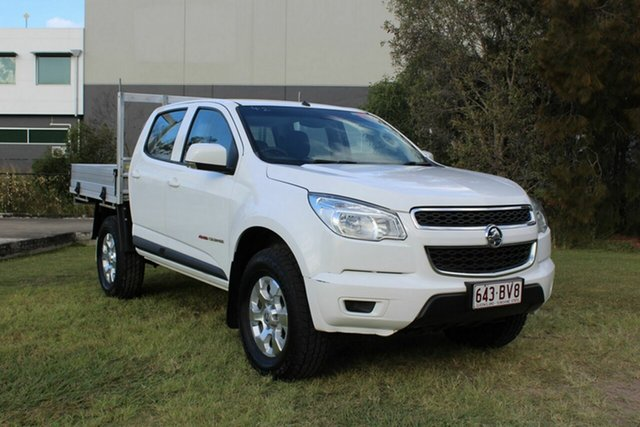 Used Holden Colorado RG MY16 LS Crew Cab Ormeau, 2016 Holden Colorado RG MY16 LS Crew Cab White 6 Speed Automatic Cab Chassis