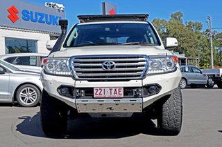 2013 Toyota Landcruiser VDJ200R MY12 VX Blizzard Pearl 6 Speed Sports Automatic Wagon.