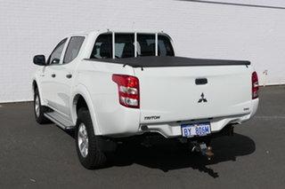2015 Mitsubishi Triton MQ MY16 GLX Double Cab White 6 Speed Manual Utility.