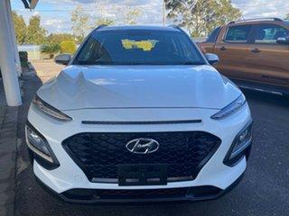 2019 Hyundai Kona Active White Sports Automatic Wagon.