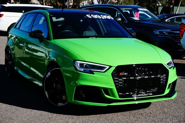 Used Audi RS 3 8V MY20 Carbon Edition Sportback S Tronic Quattro Phillip, 2020 Audi RS 3 8V MY20 Carbon Edition Sportback S Tronic Quattro Green 7 Speed