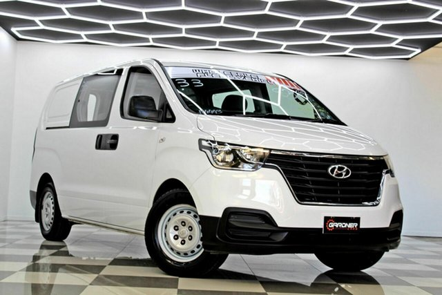 Used Hyundai iLOAD TQ4 MY19 6S Twin Swing Burleigh Heads, 2018 Hyundai iLOAD TQ4 MY19 6S Twin Swing White 5 Speed Automatic Crew Van