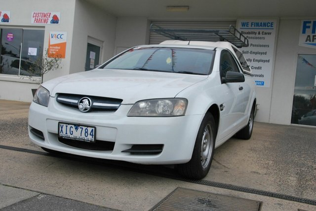 Used Holden Commodore VE MY09.5 Omega Wendouree, 2009 Holden Commodore VE MY09.5 Omega White 4 Speed Automatic Utility