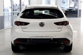 2021 Mazda 3 BP2HLA G25 SKYACTIV-Drive Astina White 6 Speed Sports Automatic Hatchback.