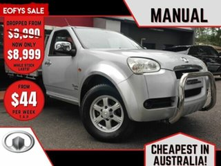 2012 Great Wall V240 K2 MY12 Metallic Silver 5 Speed Manual Cab Chassis.