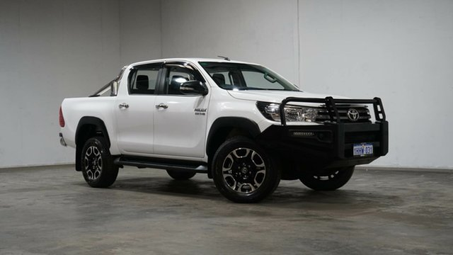 Used Toyota Hilux GUN126R SR Double Cab Welshpool, 2016 Toyota Hilux GUN126R SR Double Cab White 6 Speed Sports Automatic Utility