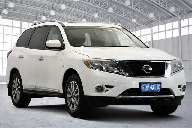 Used Nissan Pathfinder R52 MY15 ST-L X-tronic 4WD Victoria Park, 2014 Nissan Pathfinder R52 MY15 ST-L X-tronic 4WD White 1 Speed Constant Variable Wagon