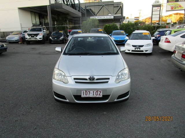 Used Toyota Corolla ZZE122R Ascent Seca Coorparoo, 2005 Toyota Corolla ZZE122R Ascent Seca Silver 4 Speed Automatic Hatchback