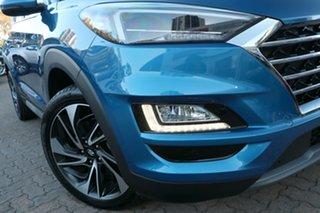 2020 Hyundai Tucson TL3 MY21 Highlander (AWD) Aqua Blue 7 Speed Auto Dual Clutch Wagon.