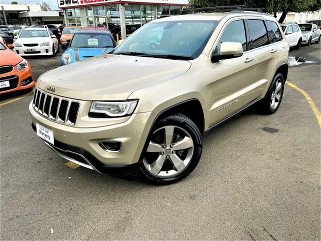 Used Jeep Grand Cherokee WK MY2014 Limited Seaford, 2013 Jeep Grand Cherokee WK MY2014 Limited Gold 8 Speed Sports Automatic Wagon