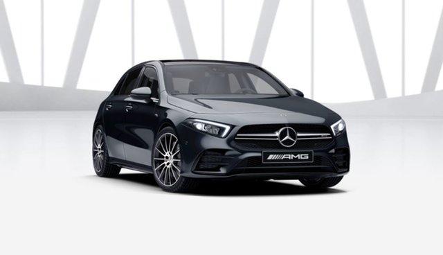 Demonstrator Mercedes-Benz A-Class W177 801+051MY A35 AMG SPEEDSHIFT DCT 4MATIC Mulgrave, 2021 Mercedes-Benz A-Class W177 801+051MY A35 AMG SPEEDSHIFT DCT 4MATIC Cosmos Black 7 Speed