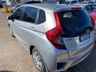 2014 Honda Jazz GF MY15 VTi Alabaster Silver 5 Speed Manual Hatchback.