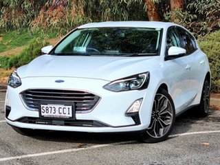2018 Ford Focus SA 2019.25MY Titanium White 8 Speed Automatic Hatchback.