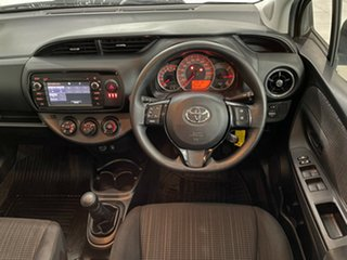 2018 Toyota Yaris NCP130R Ascent White 5 Speed Manual Hatchback
