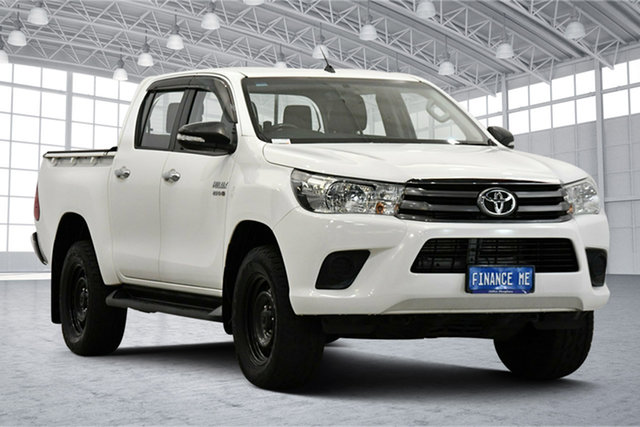 Used Toyota Hilux GUN126R SR Double Cab Victoria Park, 2016 Toyota Hilux GUN126R SR Double Cab White 6 Speed Sports Automatic Utility