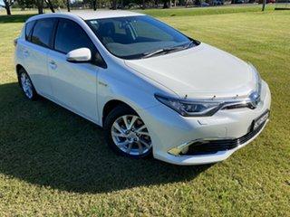 2016 Toyota Corolla ZWE186R Hybrid E-CVT Crystal Pearl 1 Speed Constant Variable Hatchback Hybrid.