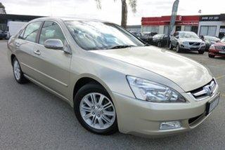 2007 Honda Accord 7th Gen MY07 V6 Luxury Gold 5 Speed Automatic Sedan.