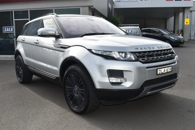 Used Land Rover Range Rover Evoque L538 MY12 SD4 CommandShift Pure Gosford, 2012 Land Rover Range Rover Evoque L538 MY12 SD4 CommandShift Pure Silver 6 Speed Sports Automatic